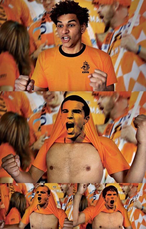 Footballshirt-orange